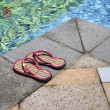 Poolside slippers — Stock Photo
