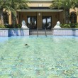Stock Photo: The hotel outdoor swimming pool