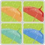 Vector umbrellas set — Stock Photo