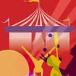 Stock Photo: Circus marquee tent with juggling vector illustration