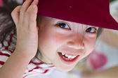 Portrait of asian cute little girl — Stock Photo