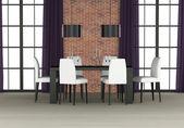 Dining room interior — Stock Photo
