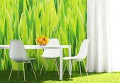 Conceptual green kitchen — Foto de Stock