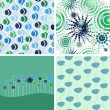 Stock Vector: Set of vector abstract backgrounds.