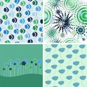 Set of vector abstract backgrounds. — Stock Vector