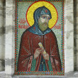 Mosaic ikon of Alexander Nevsky - Stock Photo