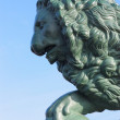 Sculpture of a lion, St. Petersburg, Russia — Stock Photo