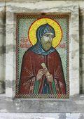Mosaic ikon of Alexander Nevsky — Stock Photo