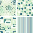 Set of seamless backgrounds - Stock Vector