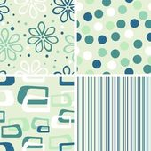 Set of seamless backgrounds — Vector de stock