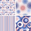 Stock Vector: Set of abstract seamless lilac patterns