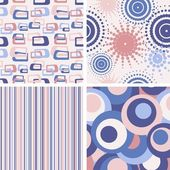 Set of abstract seamless lilac patterns — Stock Vector