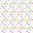 Stock Vector: Baby floral seamless background