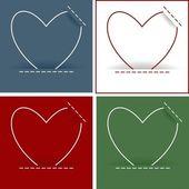 Heart card set — Stock Vector