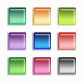 Glass button set — Stock Vector