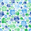 Seamless floral blue tender pattern — Stock Vector #18757391
