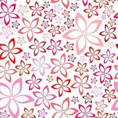 Tender floral pink seamless pattern — Stock Vector