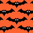 Stock Vector: Halloween bat seamless pattern