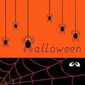 Halloween spider card — Stock Vector