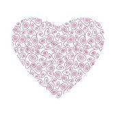 Beautiful fragility heart — Stock Vector