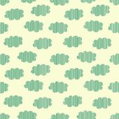 Strip clouds seamless pattern, vector illustration — Stock Vector