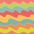 Retro colorful wave pattern, vector illustration — Stock Vector