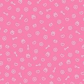 Cute seamless valentine pattern, vector illustration — Vettoriale Stock