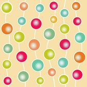 Funny abstract ball seamless pattern, vector illustration — Stock Vector