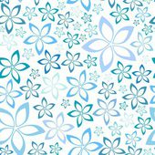 Simple blue floral seamless pattern, vector illustration — Stock Vector