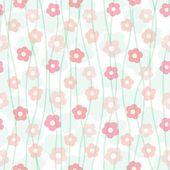 Floral pastel seamless pattern, vector illustration — Stock Vector