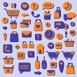 Stock Vector: Shopping icons set, vector illustration