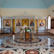 Interior of the temple of St. Nicholas of Myra. Yekaterinburg. - Stock Photo