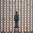 Monument to General Charles de Gaulle. Hotel Cosmos (Cosmos) — Stock Photo