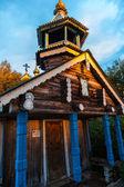 Nadkladeznaya chapel Great Nikita. Sunset — Stock Photo