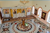 Interior of the temple of St. Nicholas of Myra. Yekaterinburg. — Stock Photo