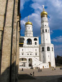 At the base of the bell tower is the church of st. John Climacus — Stock Photo