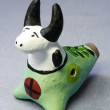 Traditional painted clay toys whistle bull. — Stock Photo #18658541
