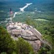 Mile high overlook at chimney rock — Stock Photo