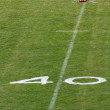 Fourty yard line — Stock Photo