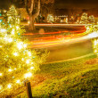 Christmas traffic — Foto Stock