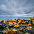 Bay view cloudy day at east greenwich bay, rhode island — Lizenzfreies Foto