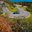 Hairpin Curve Road in the Blue Ridge Mountains - Stock Photo