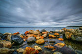 Bay view cloudy day at east greenwich bay, rhode island — Stock Photo