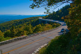 Blue Ridge Parkway Autumn Linn Cove Viaduct Fall Foliage Mountains — Stock Photo #13409119