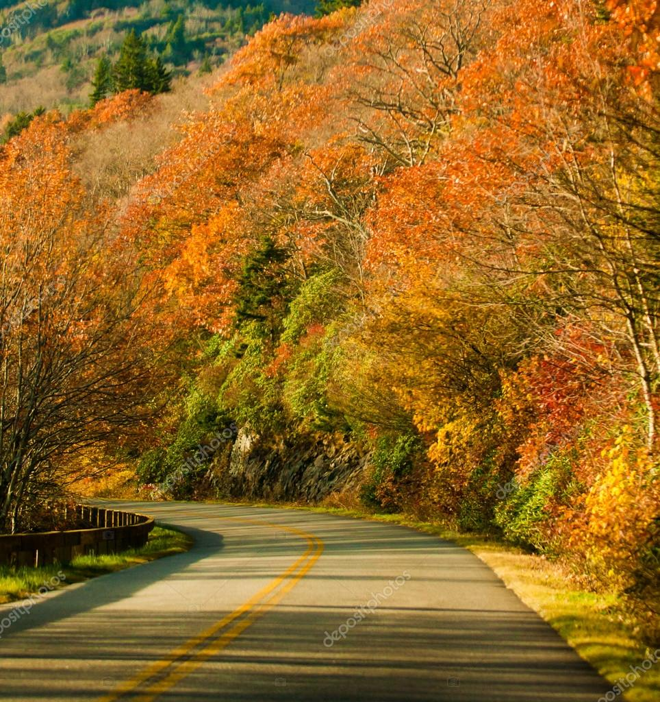 Fall scenic highway — Stock Photo #13408945