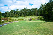 Krajobraz pejzaż pole golfowe — Zdjęcie stockowe