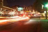 Buiten kerstversiering op kerstmis stad usa — Stockfoto