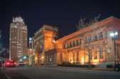Providence hotels in downtown at night — Stock Photo
