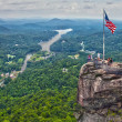 Chimney rock overlook — Stock Photo