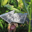 Apple farm sign — Stock Photo